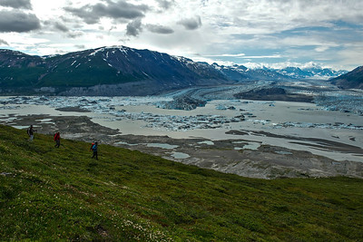Hiking Goatherd Mountain Overlooking Lowell Glacier