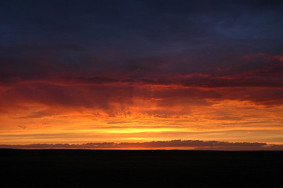 Tundra Sunset - Thelon River, NWT